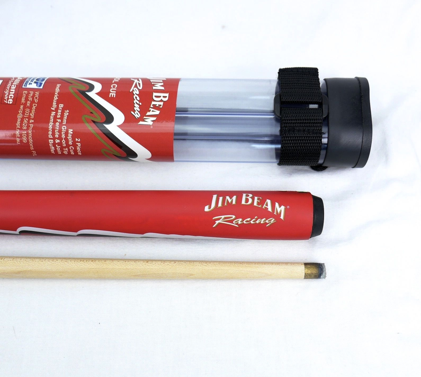 Pool Billiard Snooker Cue Logo Jim Beam And Protective