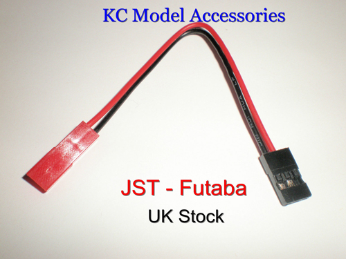 Jst Female To Futaba Jr Male Battery Charge Connector Lead