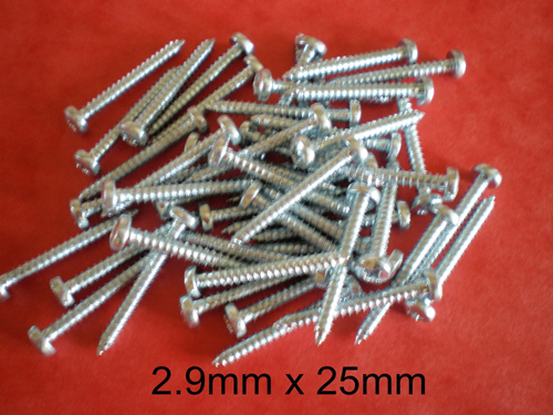 3mm x 6mm SELF TAPPING SCREWS 50pieces Pozi Pan Head.